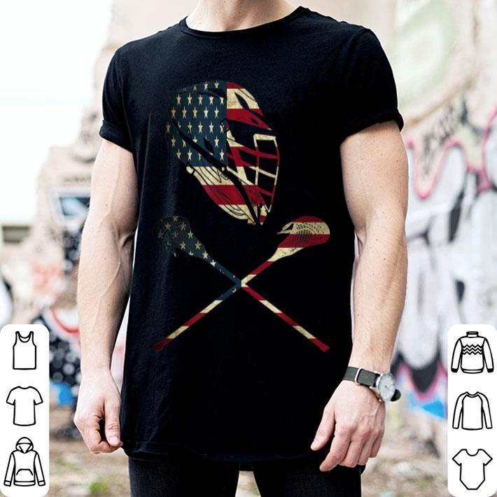 - Lacrosse American Flag Lax Player Sticks shirt