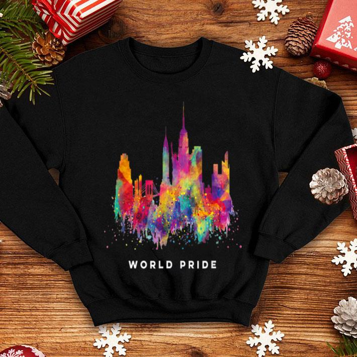 - NYC World Pride Rainbow New York LGBT Day 2019 shirt