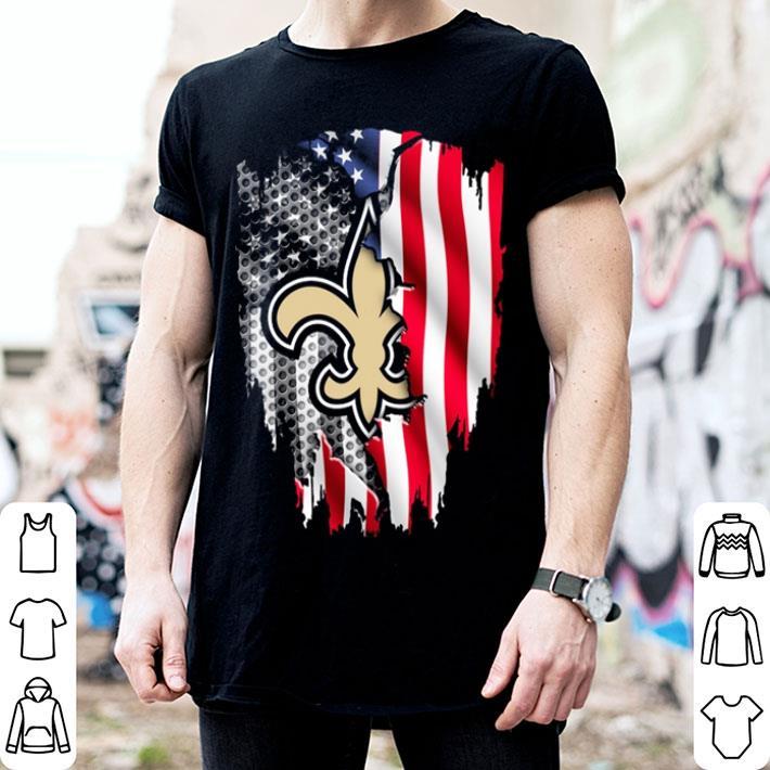 - New Orleans Saints American flag shirt