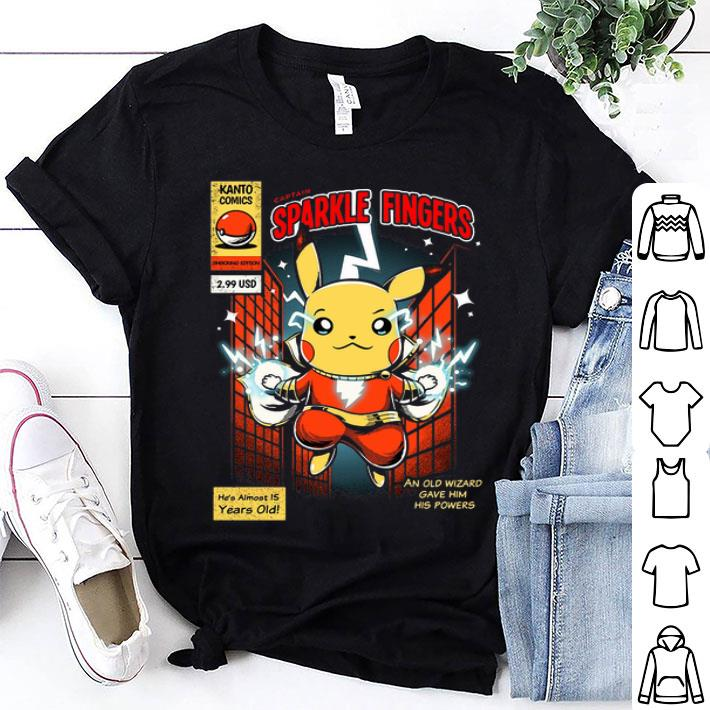 Pikachu Captain Sparkle Fingers Shazam shirt