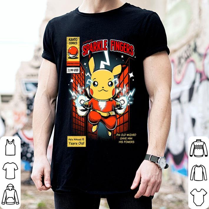 - Pikachu Captain Sparkle Fingers Shazam shirt