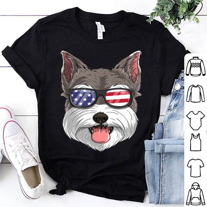 - Schnauzer Dog Patriotic Usa 4th Of July American shirt
