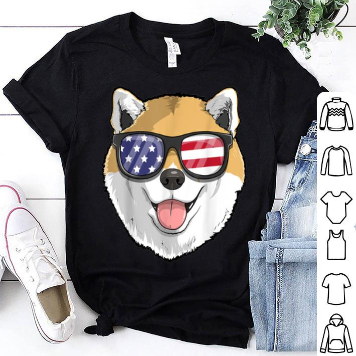 Shiba Inu Dog Patriotic Usa 4th Of July American shirt