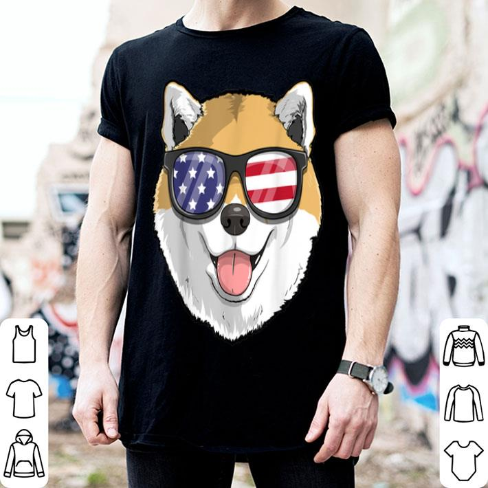 - Shiba Inu Dog Patriotic Usa 4th Of July American shirt