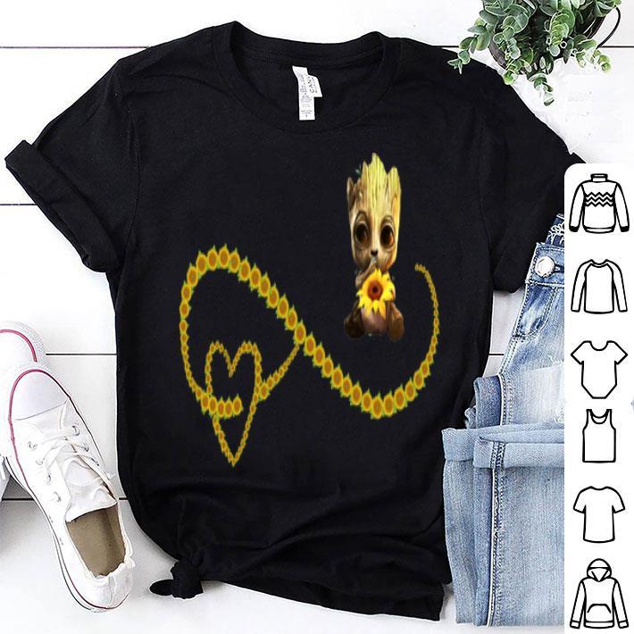 - Sunflowers Heart and Baby Groot shirt