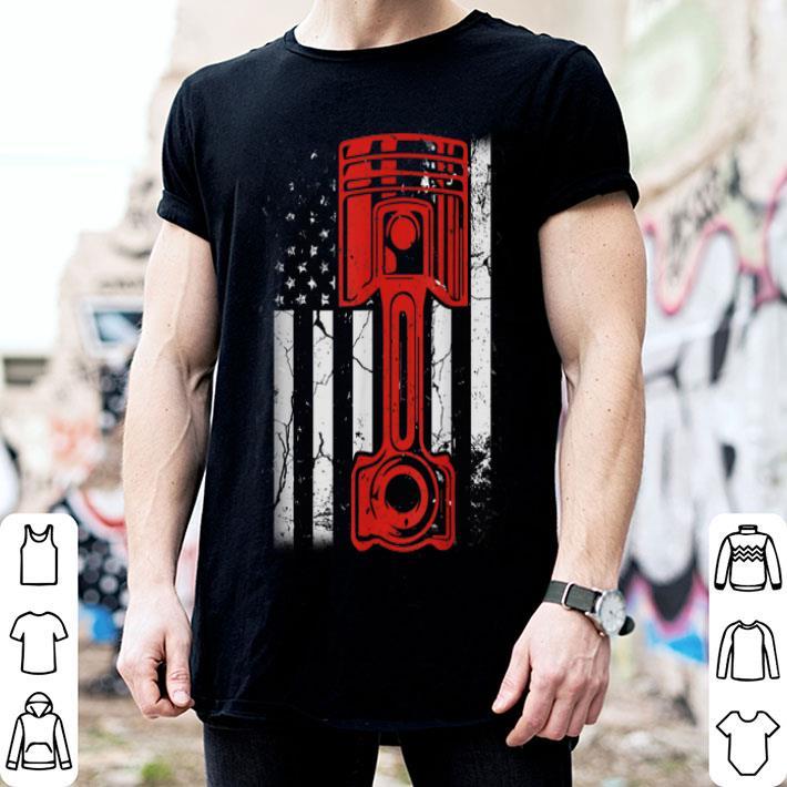 - Vintage American Flag Diesel Muscle Car Mechanic shirt