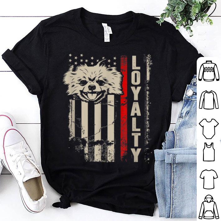 - Vintage Patriot Pomeranian American Flag 4th Of July American Flag shirt