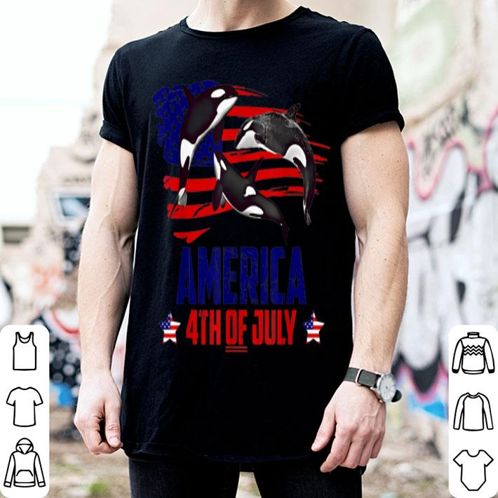 - Whale Patriotic American America 4th Of July shirt