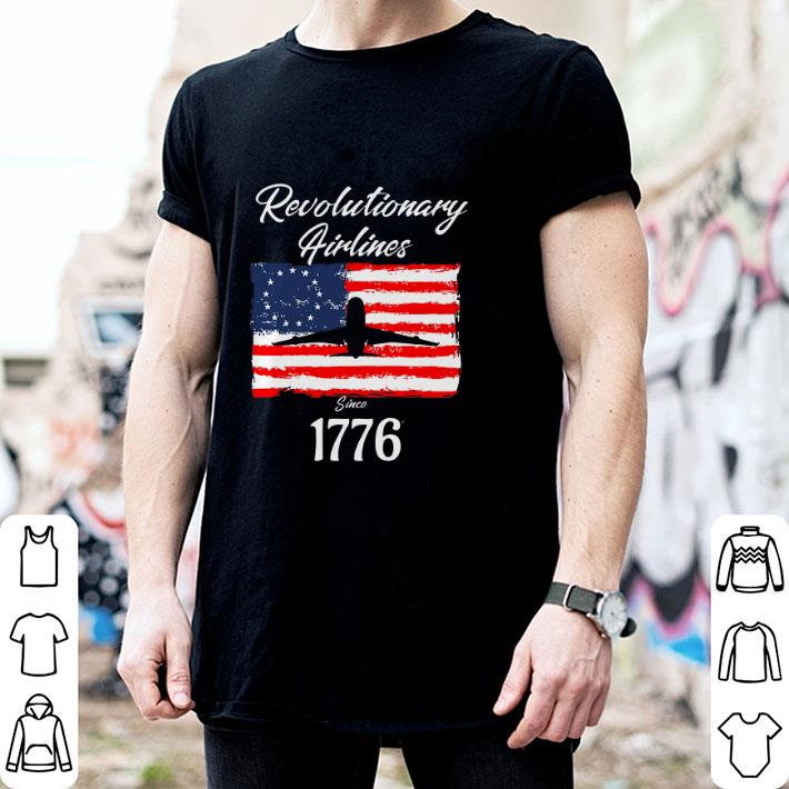 Revolutionary Airlines since 1776 Betsy Ross Flag shirt 4