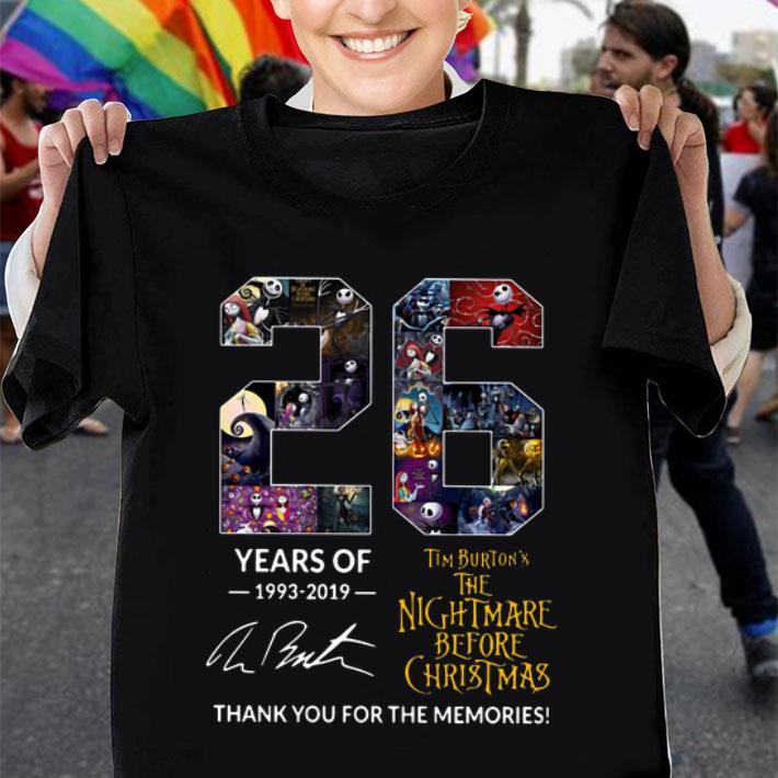 26 Years of Tim Burton's The Nightmare Before Christmas signature shirt