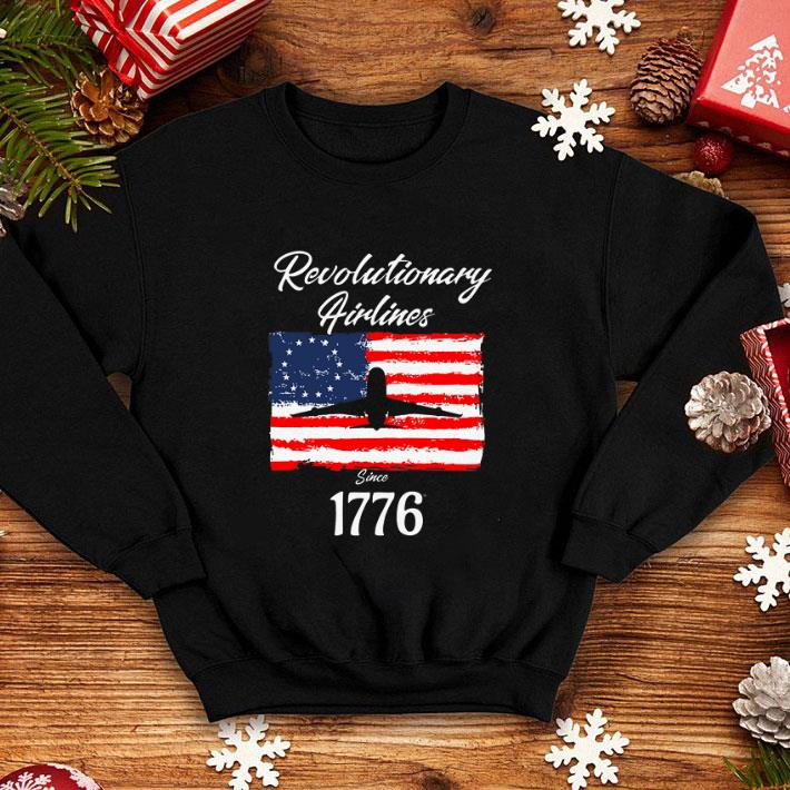 - Revolutionary Airlines since 1776 Betsy Ross Flag shirt