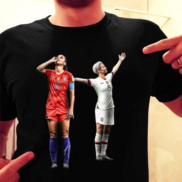 - Alex Morgan and Megan Rapinoe women's soccer shirt