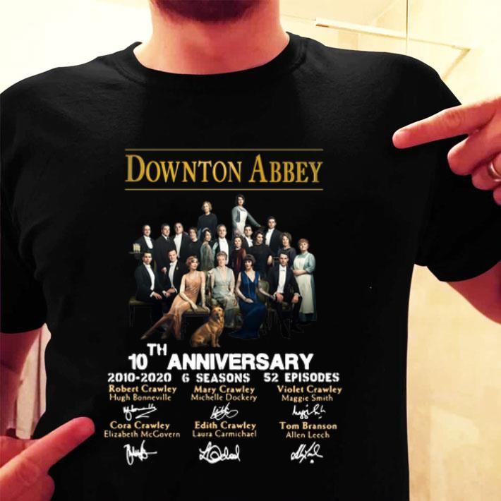 - Downton Abbey 10th Anniversary 2010-2020 6 seasons signatures shirt