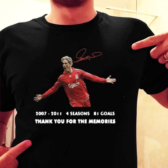 - Fernando Torres 2007-2011 4 seasons 81 goals signature shirt