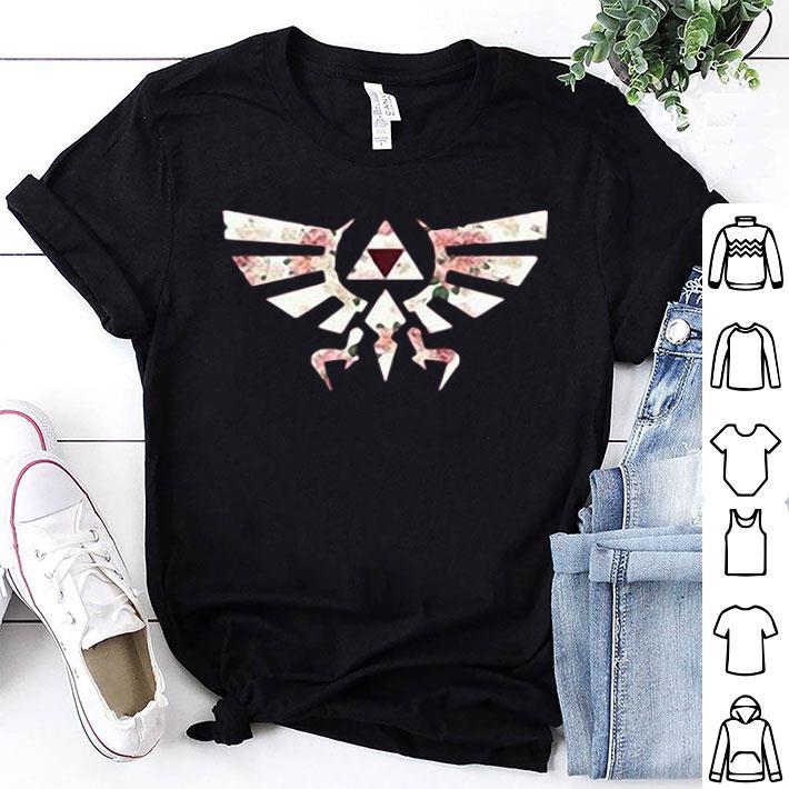 Flower The Legend of Zelda Triforce symbol shirt