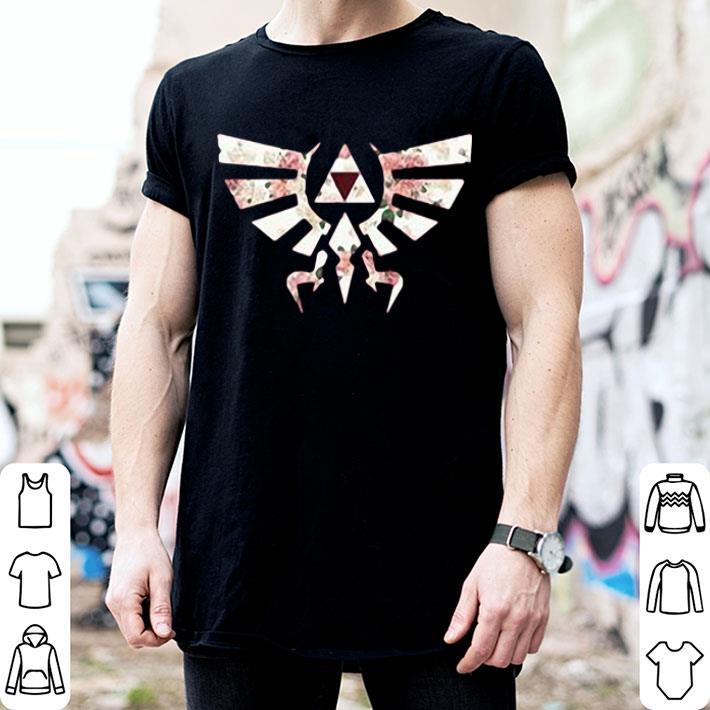 - Flower The Legend of Zelda Triforce symbol shirt