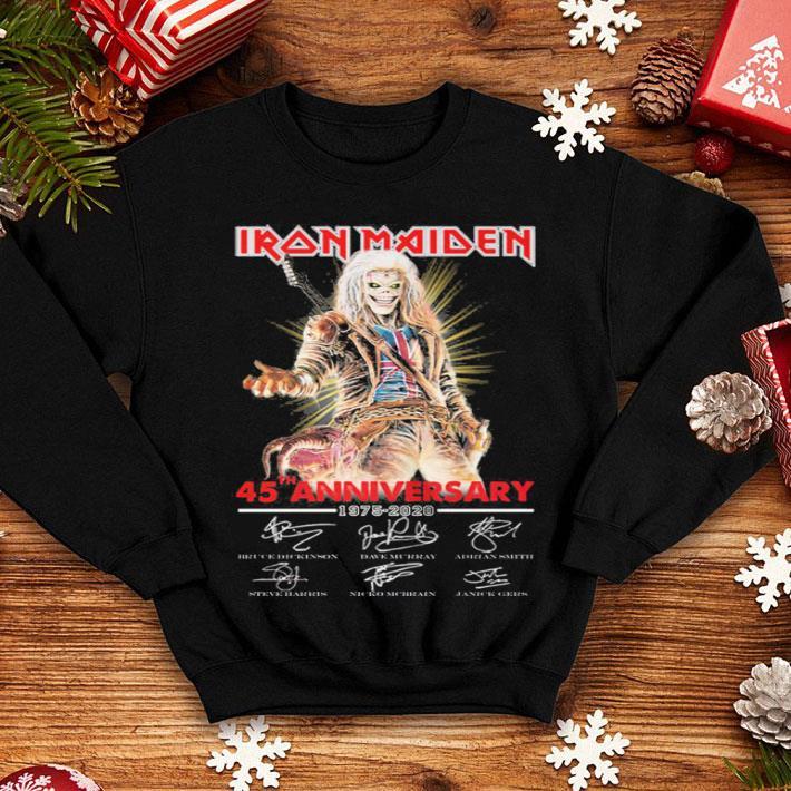 - Iron Maiden 45th anniversary 1975-2020 signatures shirt