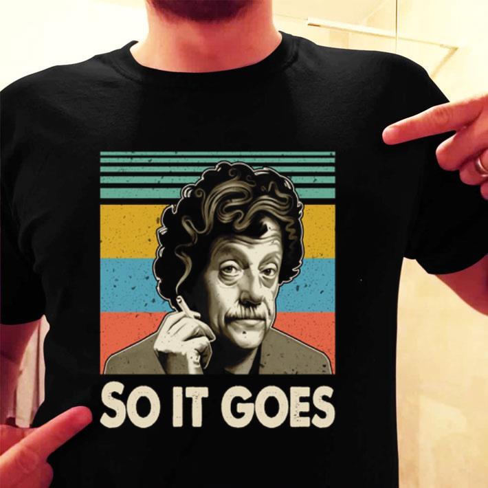 - Kurt Vonnegut So it goes vintage shirt