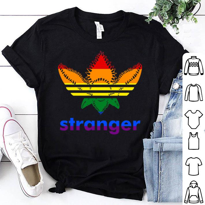 - LGBT Adidas Stranger Things shirt