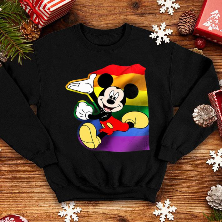 - LGBT Mickey Mouse shirt