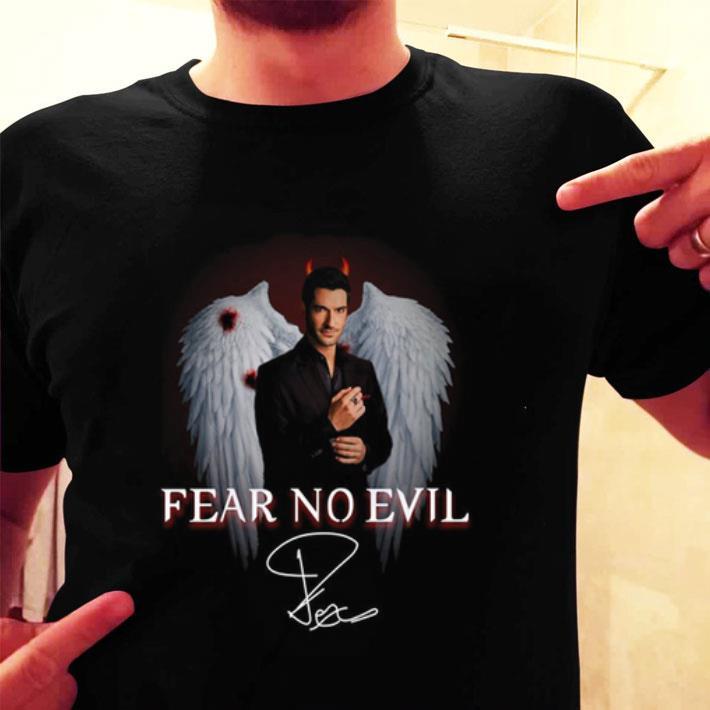 Lucifer Fear no evil Tom Ellis signature shirt