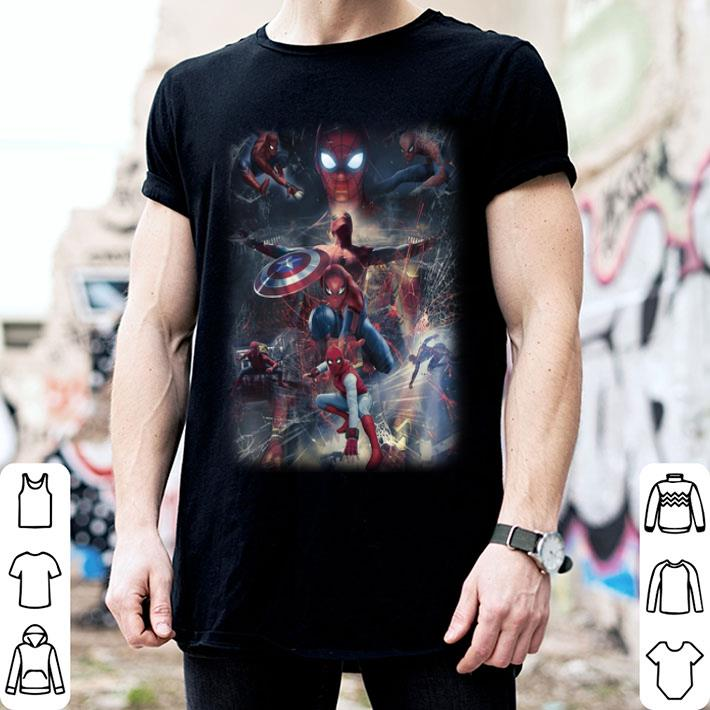- Marvel Spider Man Far From Home and Captain America Shield shirt