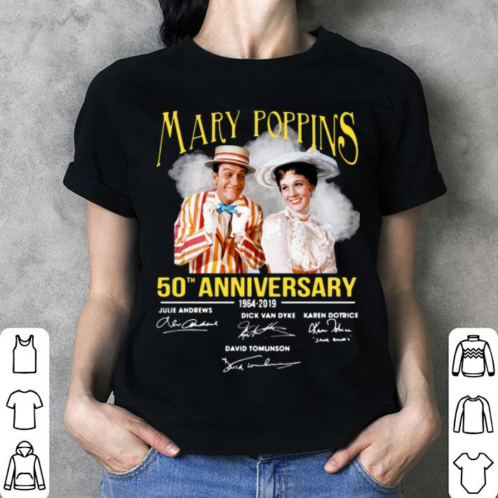 Mary Poppins 50th anniversary 1964-2019 signatures shirt