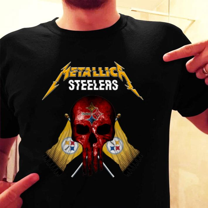 - Metallic Pittsburgh Steelers punisher shirt
