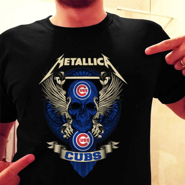 - Metallic skull Chicago Cubs Ubs shirt