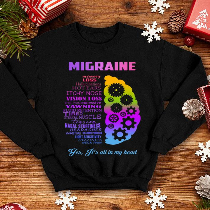 - Migraine yes it is all in my head shirt