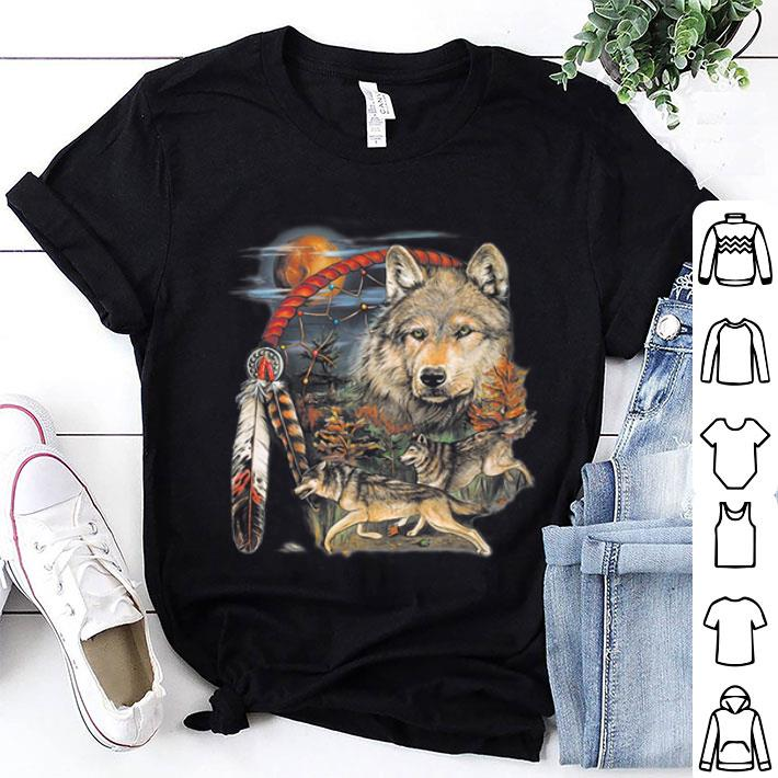 Native American Indian Dream Catcher Wolf Moon Animal