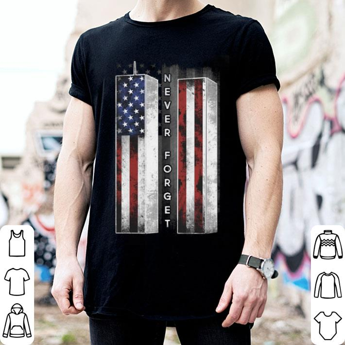 - Never forget American flag shirt