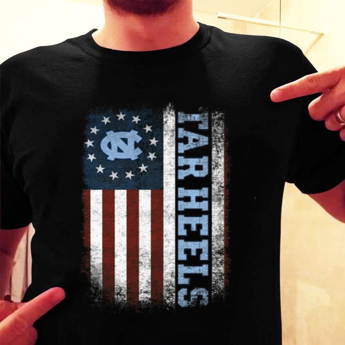 - North Carolina Tar Heels Betsy Ross flag shirt