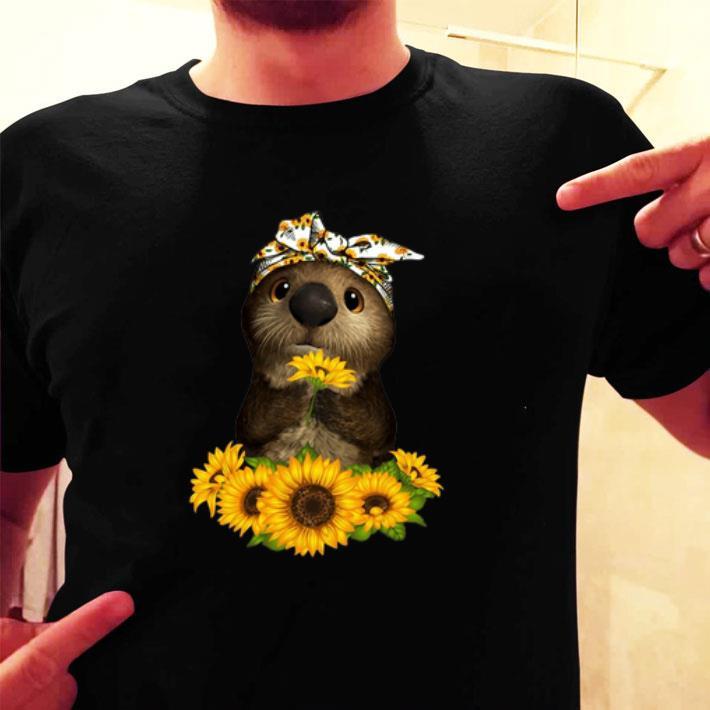 Otter sunflowers shirt