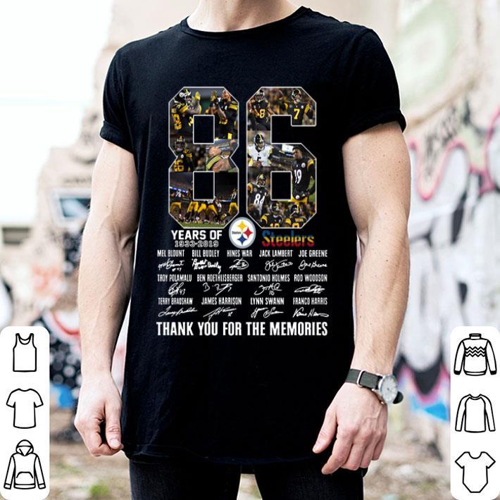 Pittsburgh Steelers 86th Anniversary 1933-2019 signatures shirt