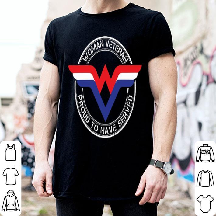 - Proud to have served Wonder Woman veteran shirt