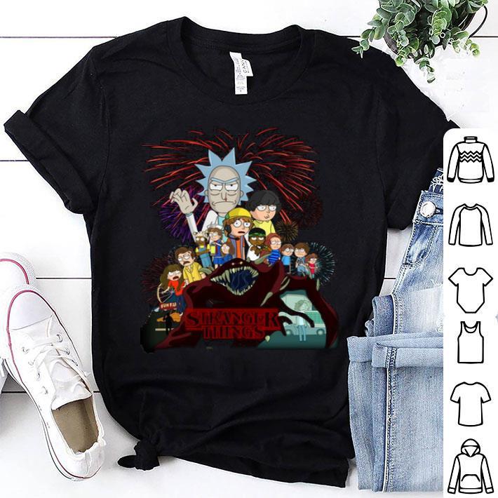 Rick and Morty version Stranger Things shirt