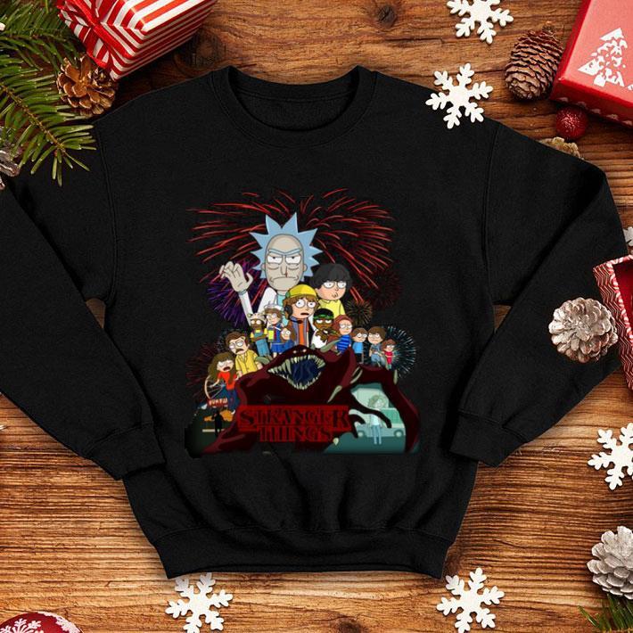 - Rick and Morty version Stranger Things shirt