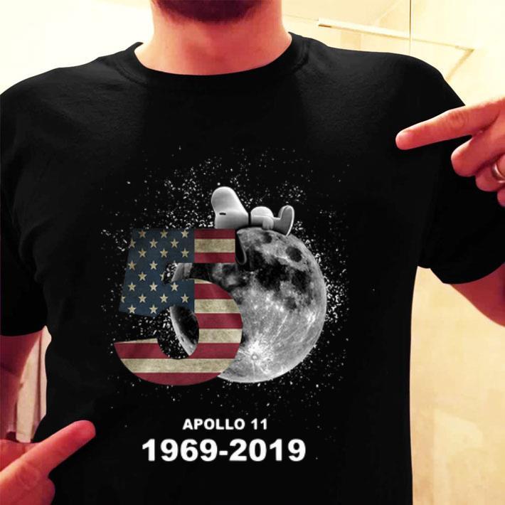- Snoopy 50th Anniversary Apollo 11 1969-2019 American flag shirt