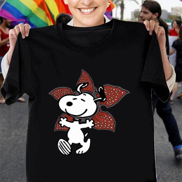 - Snoopy Demogorgon Stranger Things shirt