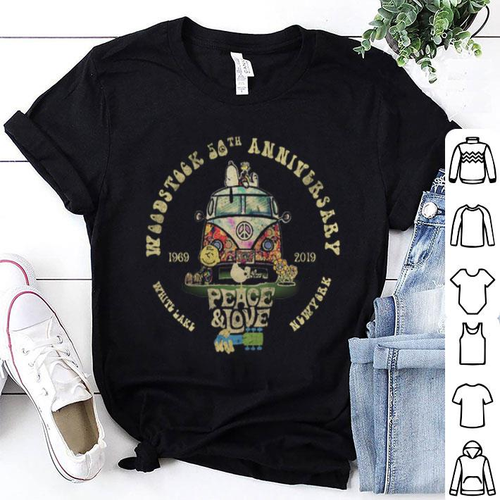 - Snoopy Woodstock 50th anniversary 1969-2019 peace & love Hippie shirt