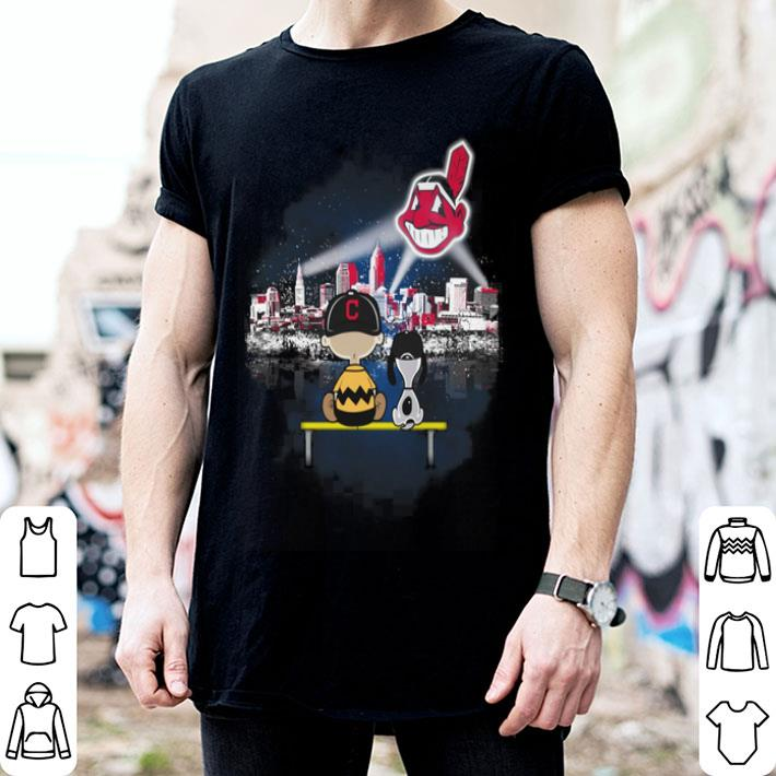 - Snoopy and Charlie Brown Cleveland Indians shirt
