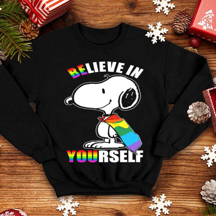 - Snoopy believe in yourself LGBT shirt