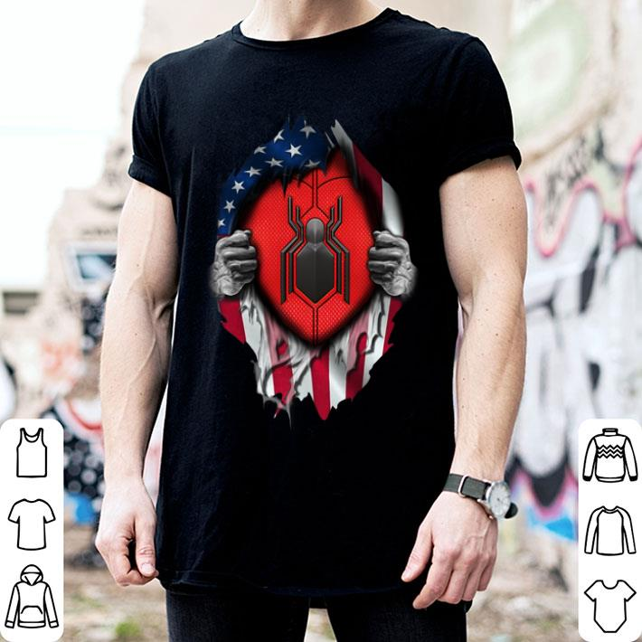 Spider Man Far From Home American flag shirt