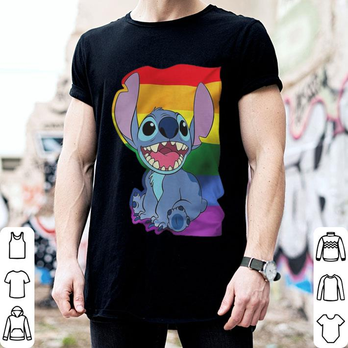 - Stitch LGBT Pride shirt