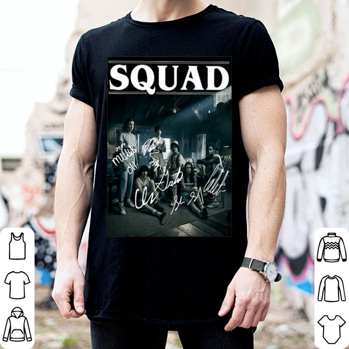 Stranger Things 3 Squad Signatures Characters shirt