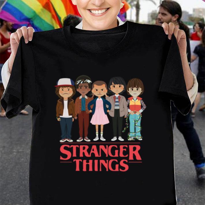 - Stranger Things angry cartoon face characters shirt