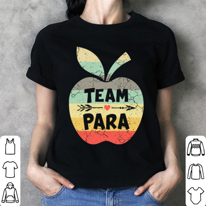 Team para apple vintage shirt