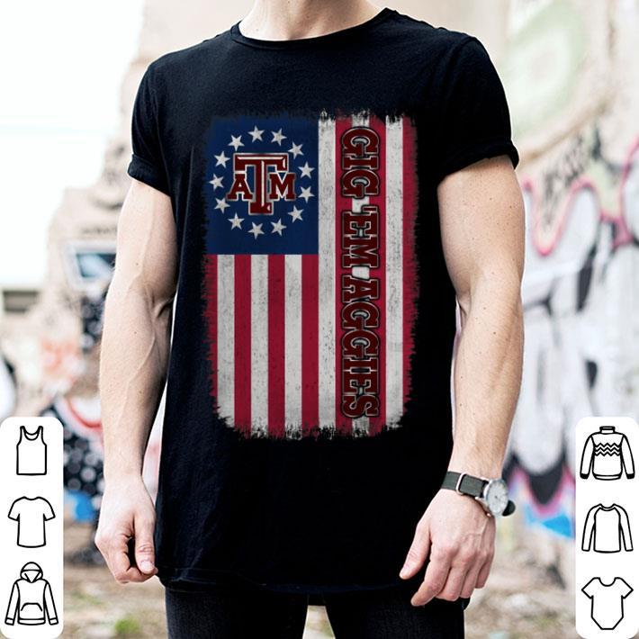 Texas A M Aggies Betsy Ross Flag Shirt Hoodie Sweater Longsleeve T Shirt