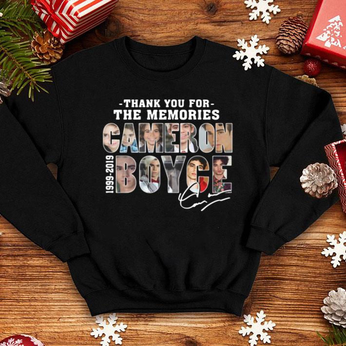 Thank you for the memories Cameron Boyce 1999-2019 signature shirt